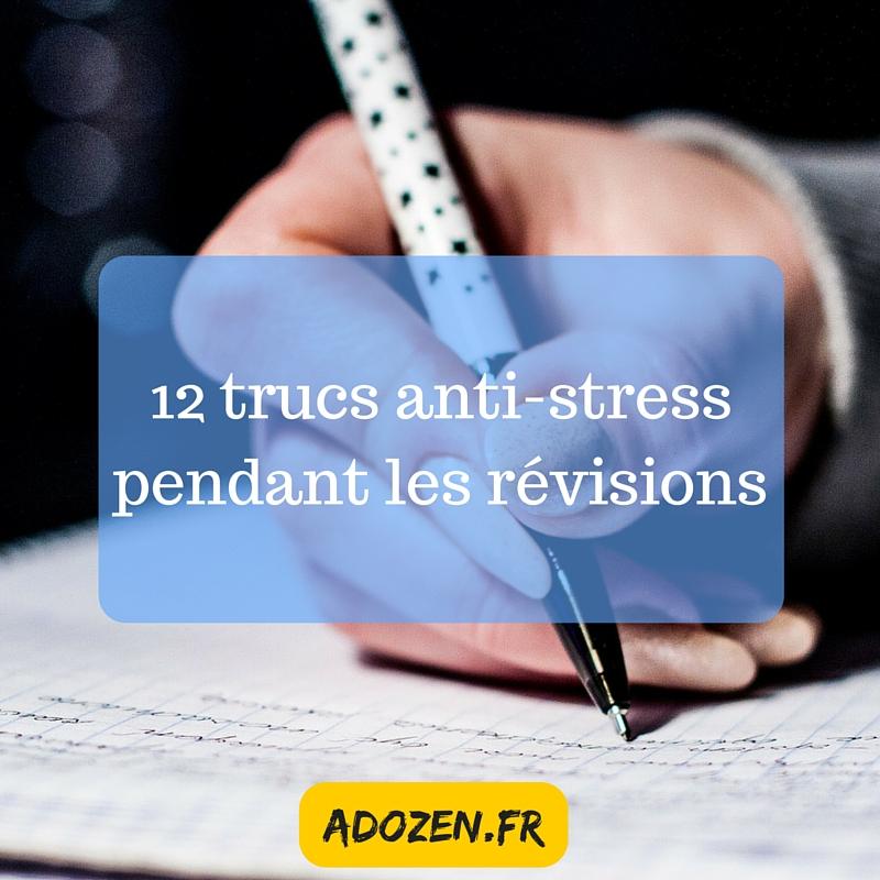 12 trucs anti-stress pendant les révisions