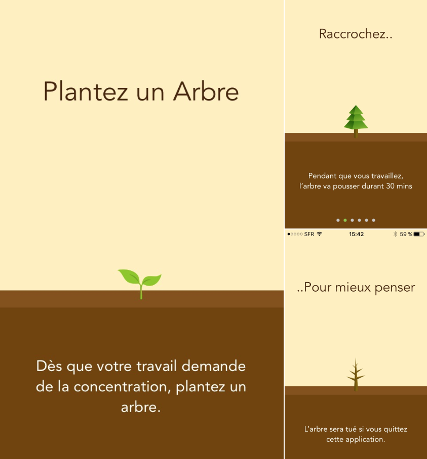 Forest: Raccrocher pour mieux penser application